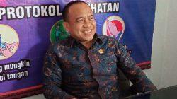 Mantan Ketua Pansus Peraturan DPRD tentan Pemilihan Wakil Bupati Lampung Utara, Wansori memberikan penilaiannya terkait pelaksanaan Pilwabup Lampura di media center DPRD Lampura, Senin (4/10/2021